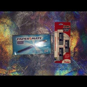 Other - Paper Mate Pencils & 3-pack Erasers